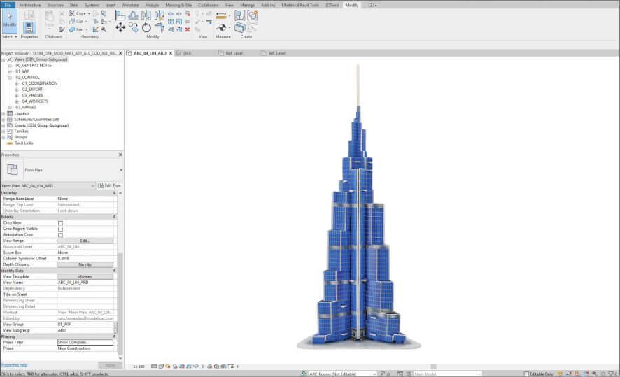 Burj Khalifa BIM