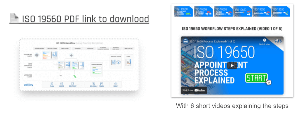 Download a simple ISO 19650 standards workflow document in pdf