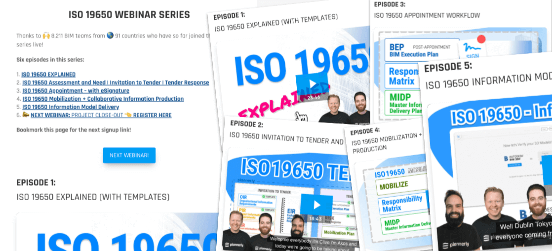 Webinar series about ISO 19650 standards